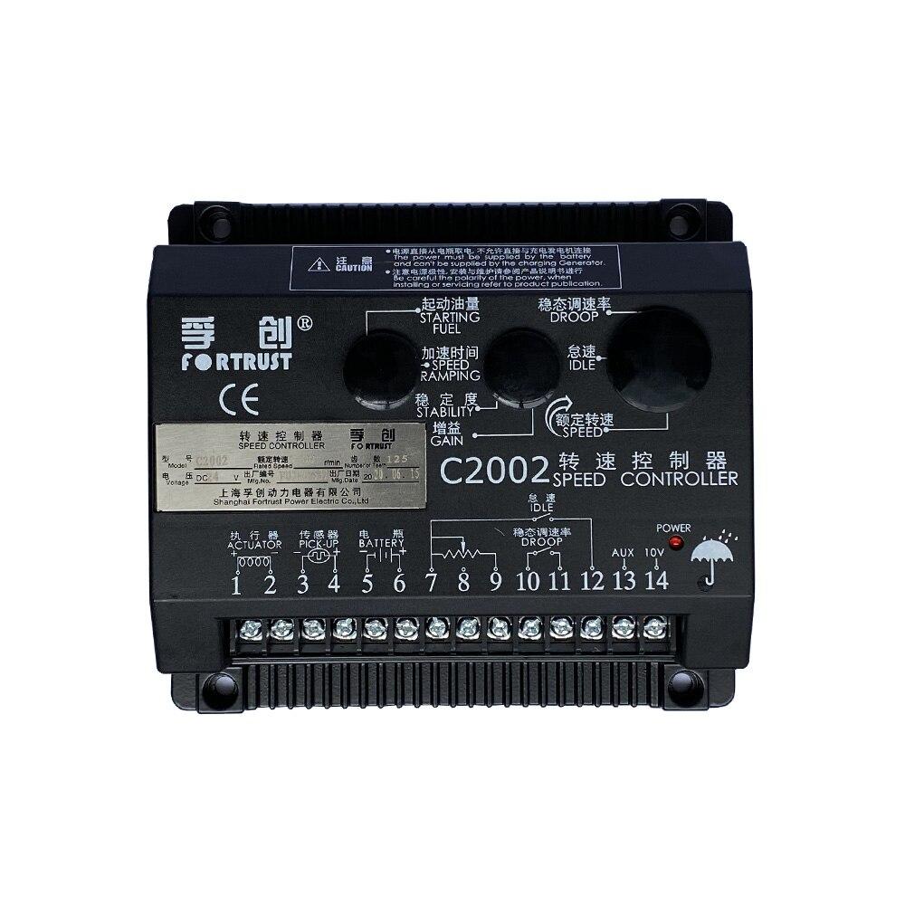 ¡Fábrica! Fortrust-CONTROLADOR DE VELOCIDAD C2002, placa de Control de velocidad para Grupo...