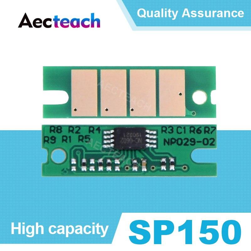 Aecteach Chip de cartucho de tóner para Ricoh SP 150 150SU 150w 150SUw SP150 SP150su sp150w sp150suw Chips de respaldo de impresora