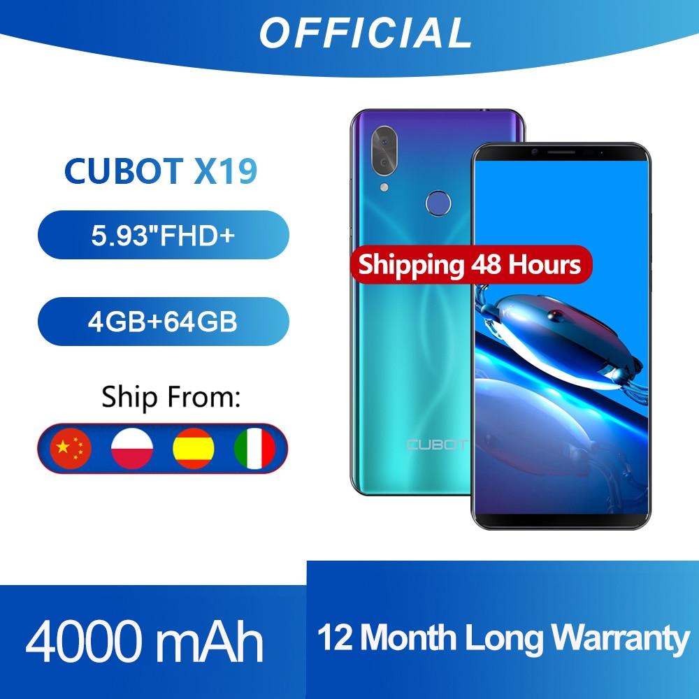 Cubot X19 Smartphone Helio P23 Octa-Core 5.93