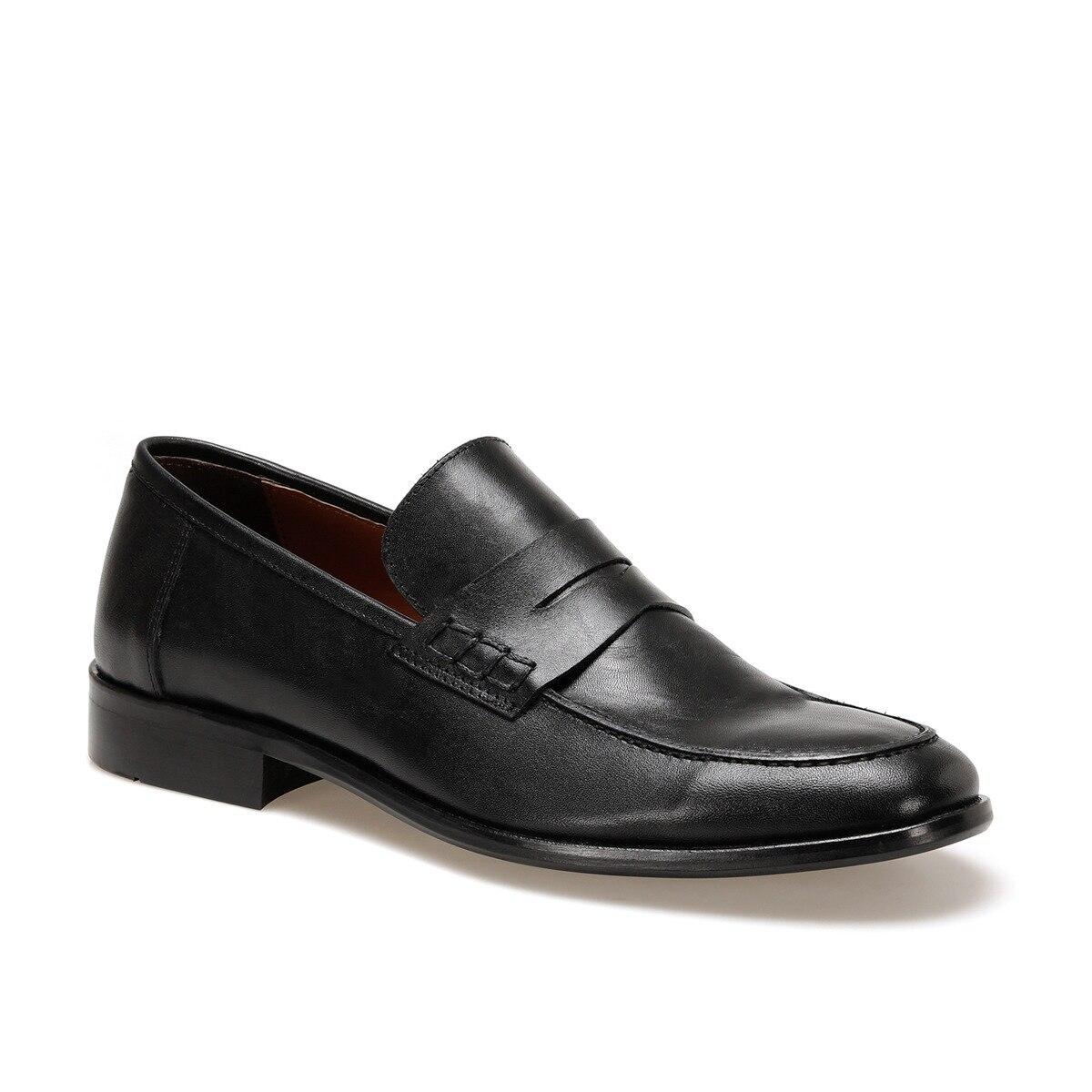 FLO Black Leather Men's Casual Shoes Mocassin men's sneakers Garamond 4247