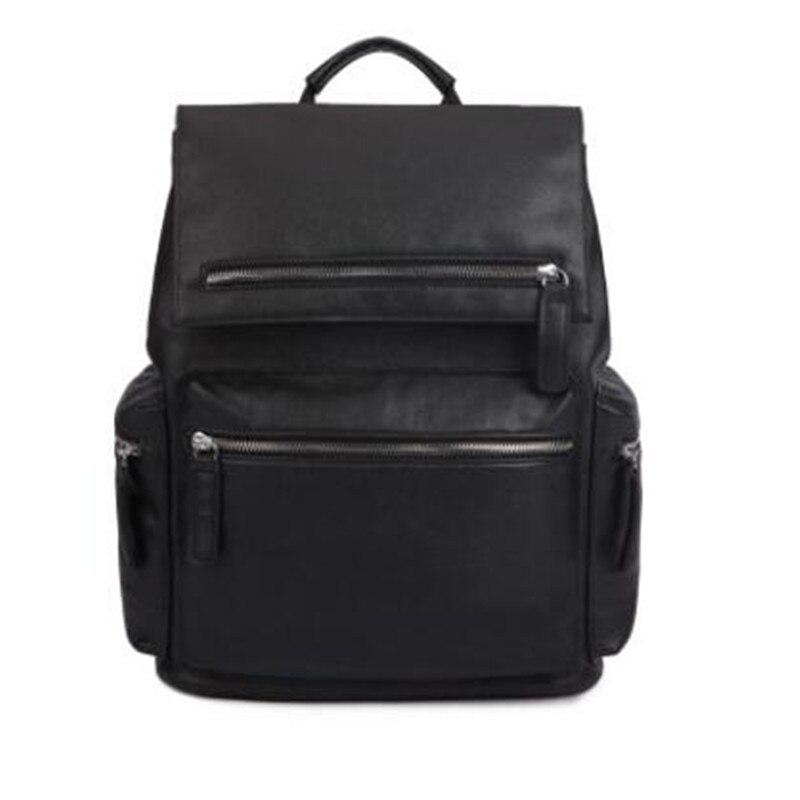 PU leather men's shoulder bag large capacity travel bag