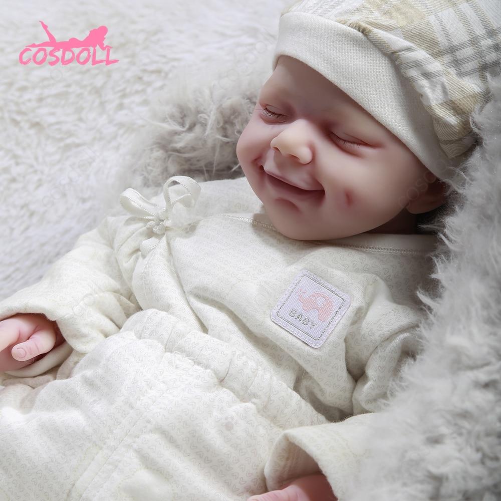 Muñeca de bebé Reborn de 47CM, muñeca de Princesa con 3,1 KG, Adorable, realista, sonriente, versión actualizada