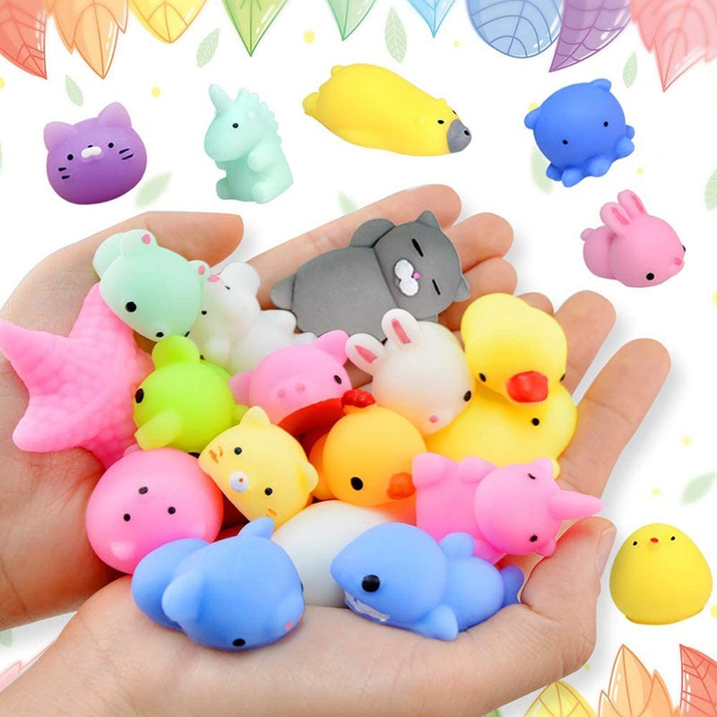 Mochi Squishy Toy 40 Pcs Mini Squishies Party Favors For Kids Animal Stress Relief Toys Cat Panda Unicorn Birthday Gifts Random enlarge