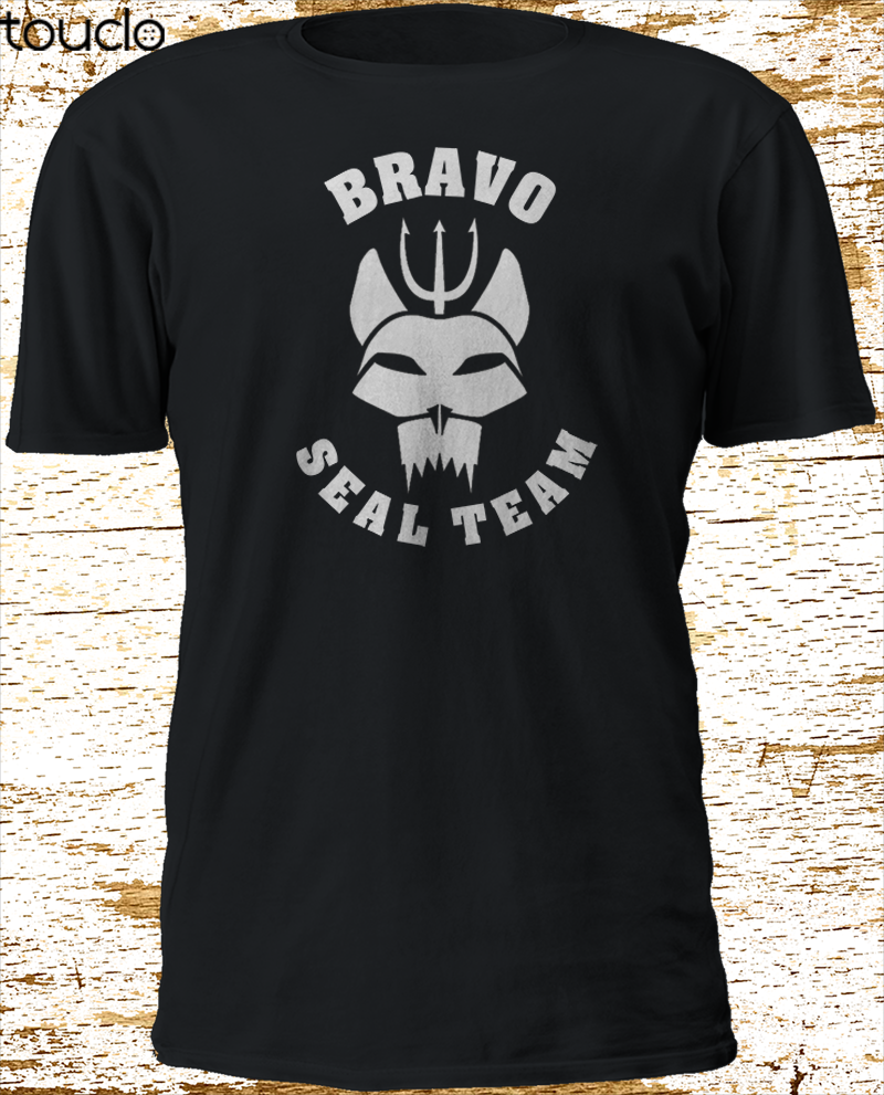 New Bravo SEAL TEAM Navy Tv Series Black T-Shirt S-3XL