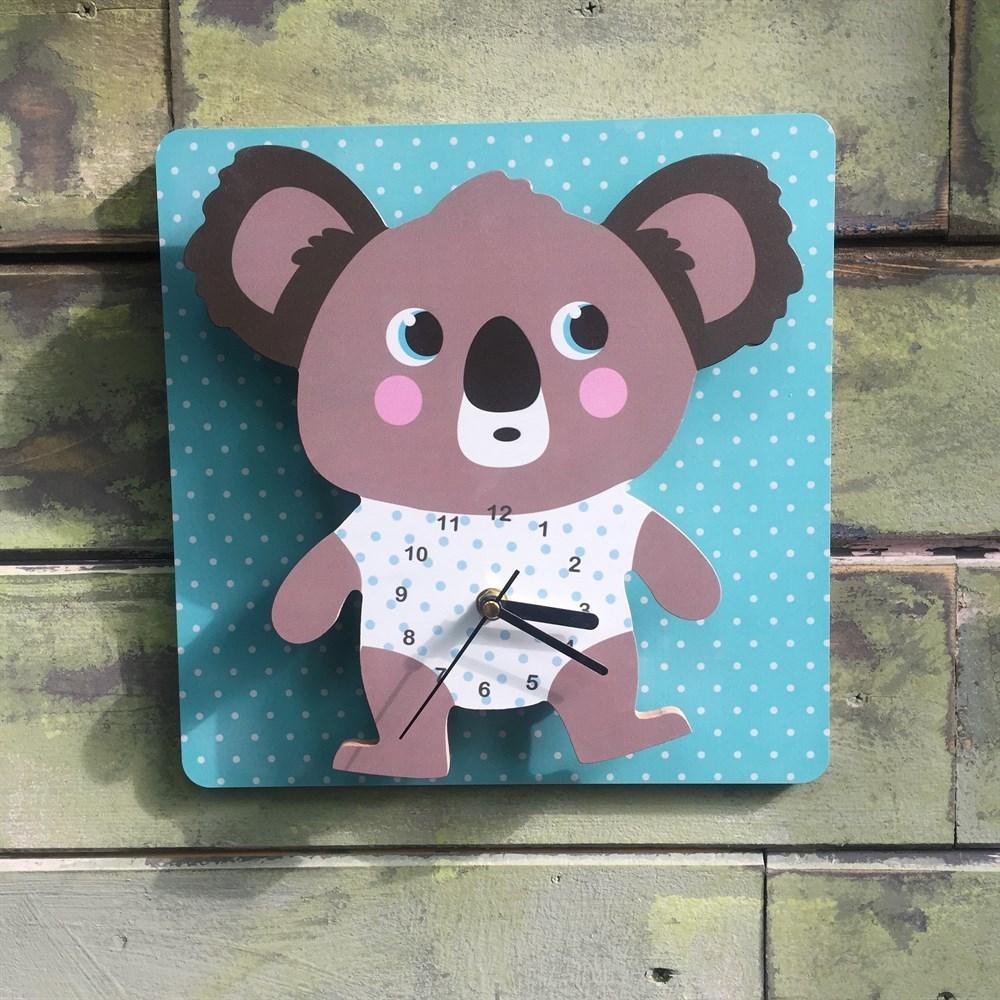 Reloj de pared para niños koala suave koala oso de peluche bonito para reloj de bebé en la pared accesorios de moda para regalo de niños