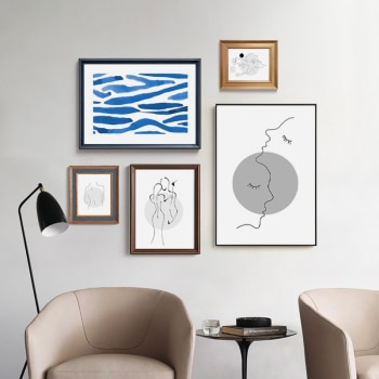 Abstract Lady Line Art Picture Minimalist Nordic Canvas Painting Figure Wall Art Posters and Prints for Living Room Home Decor