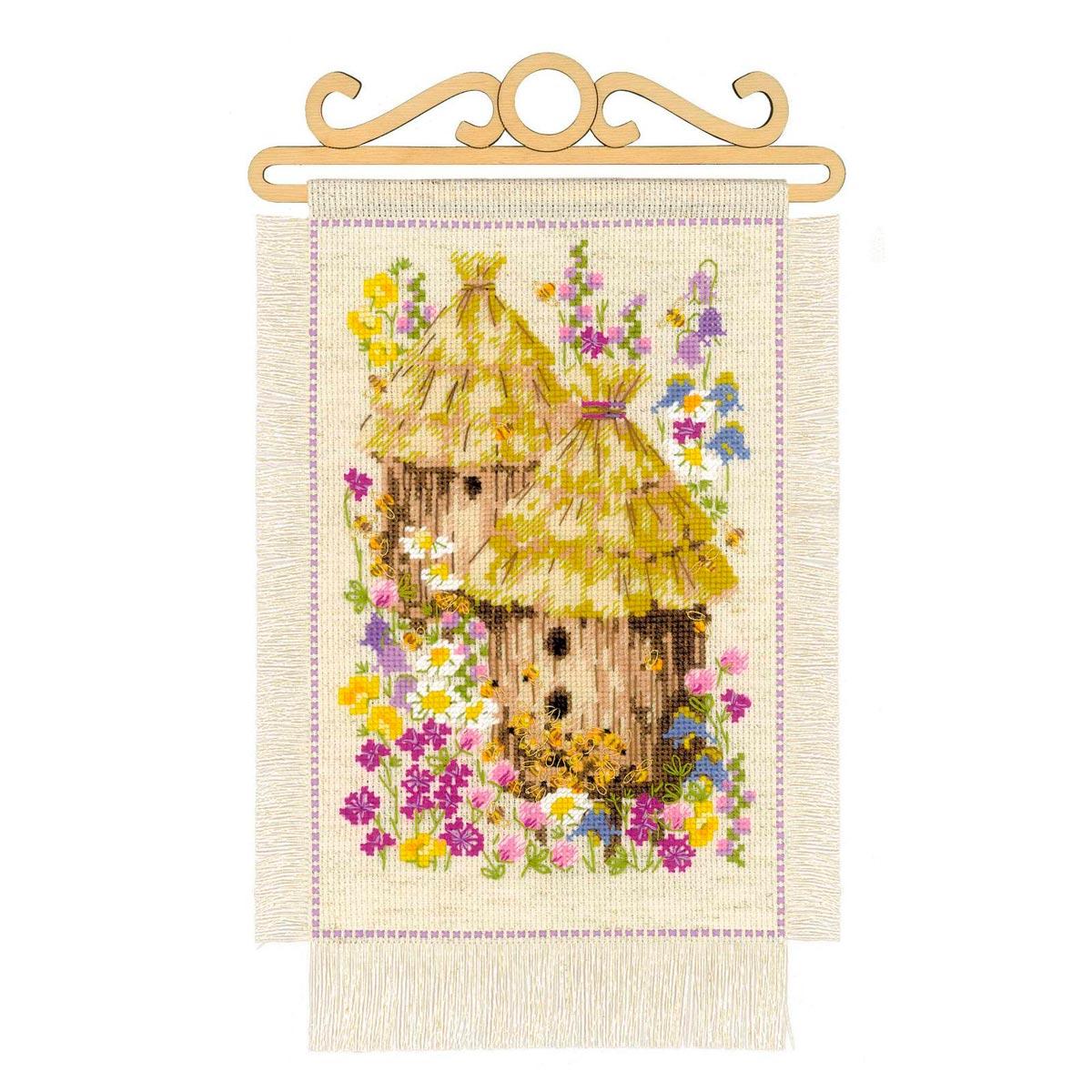 1847 set for embroidery Riolis dacha. Summer 20*30 cm