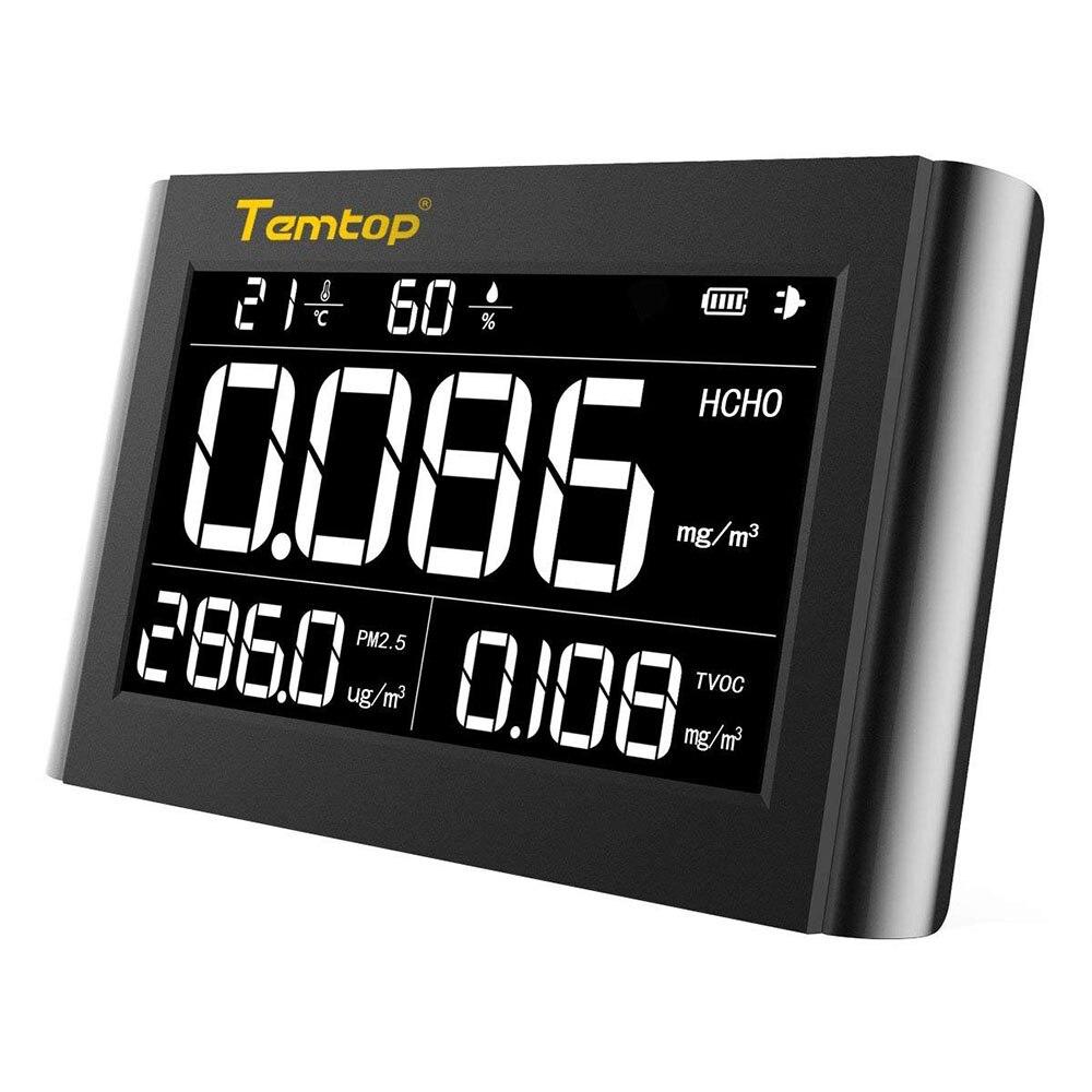 Temtop M1000 монитор качества воздуха для PM2.5 HCHO TVOC формальдегид температура влажности внутри детектор большой ЖК-дисплей