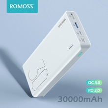 ROMOSS Sense 8+ Power Bank 30000 mAh QC PD 3.0 caricabatterie esterno Powerbank 30000 mAh a ricarica rapida per iPhone Xiaomi Mi