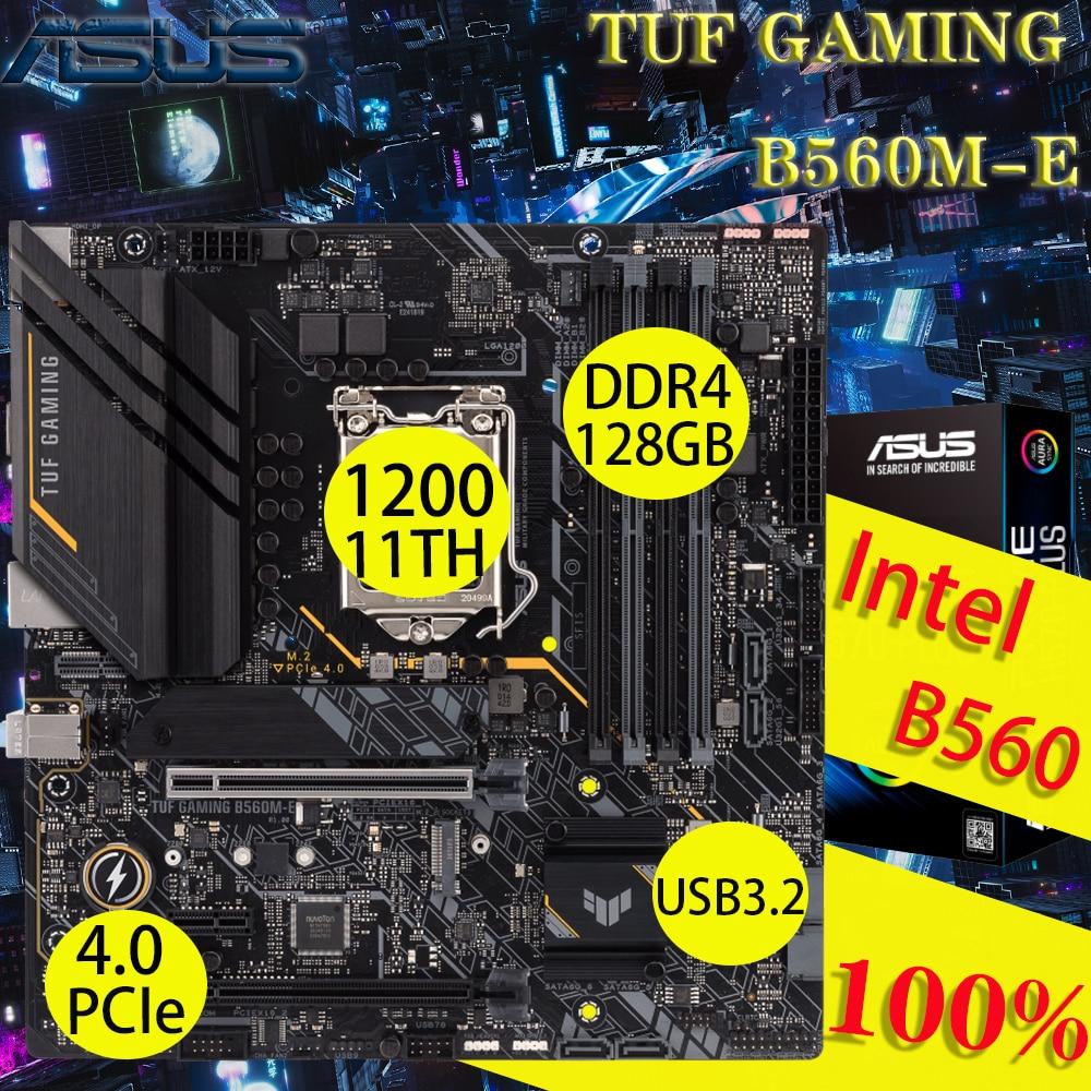 LGA 1200 اسوس TUF الألعاب B560M-E اللوحة DDR4 دعم 10th/11th M.2 USB3.2 PCIe 4 إنتل B560 الألعاب اللوحة الرئيسية بلاسا-mdooe جديد