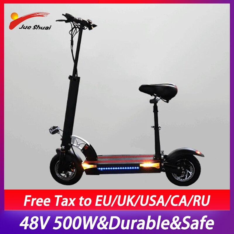 Patinete eléctrico plegable para Adulto, Scooter de 500W, 48V, 10 pulgadas, batería...
