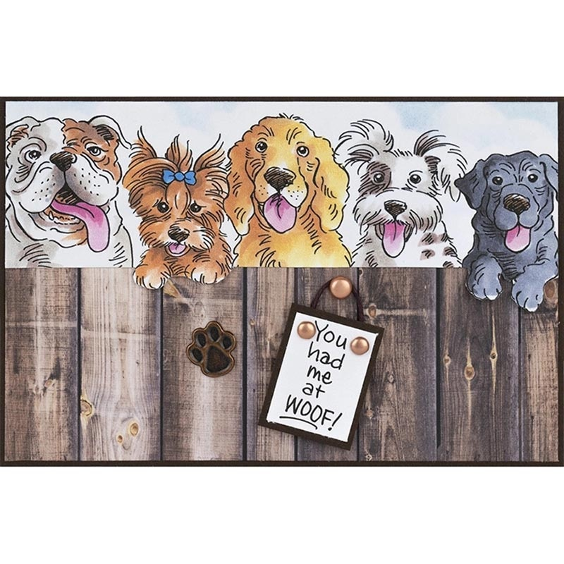 Pet dogs Clear Stamps Coordinating Metal Cutting dies for DIY Scrapbooking Craft Card Stempels New  Silicone Seal