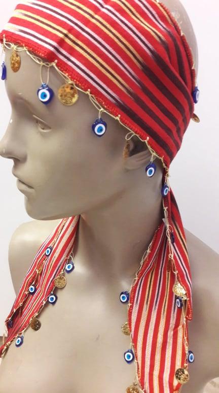 Turquía-Trabzon Kesan tela pañuelos pelo accesorios pelo barcelona club diadema de colores...