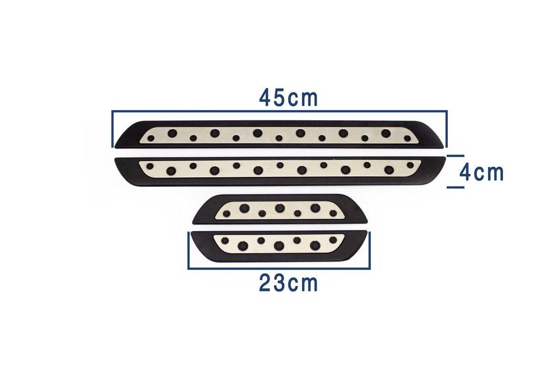 Seuil de caisse VW Amarok (Dotl) pour 4 pièces. Après Abs + acier inoxydable 2010-