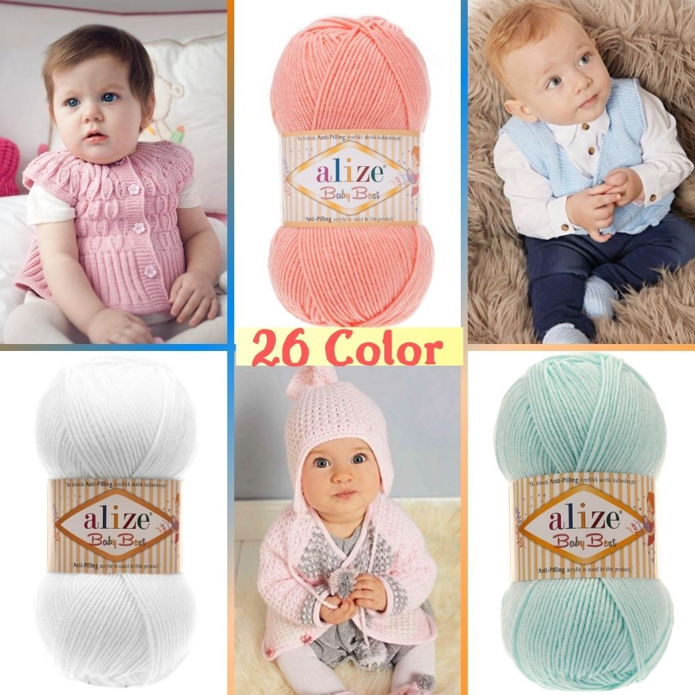 Anti-pilling Acrylic Knitted Yarn - 26 Color Options 240 Meters(100gr) hand Knitting Yarn Ball-Alize