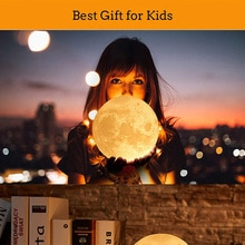 3D Printing Levitating Moon Lamp Bedside Rechargeable Moon light Color Changing LED Night Ligh Touch
