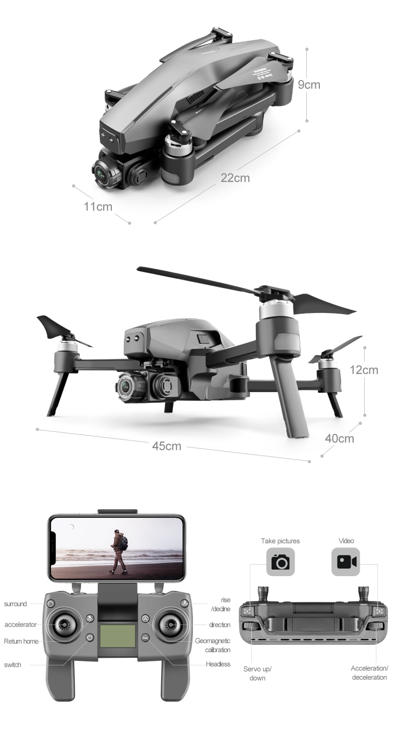 Udda67679bd124fd281b92bfa6936b2a1g - 2021 M1 Pro 2 drone 4k HD mechanical 2-Axis gimbal camera 5G wifi gps system supports TF card drones distance 1.6km