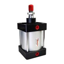 Cylindres pneumatiques à Air Standard SC80/100/125mm, alésage Double effet 50/75/100/125/150/175/200/250/300/350/400/500/1000mm