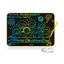 16Inch Rechargeable Big Size Colorful LCD Writing Tablet Graffiti Doodle Board  Electronic Drawing B