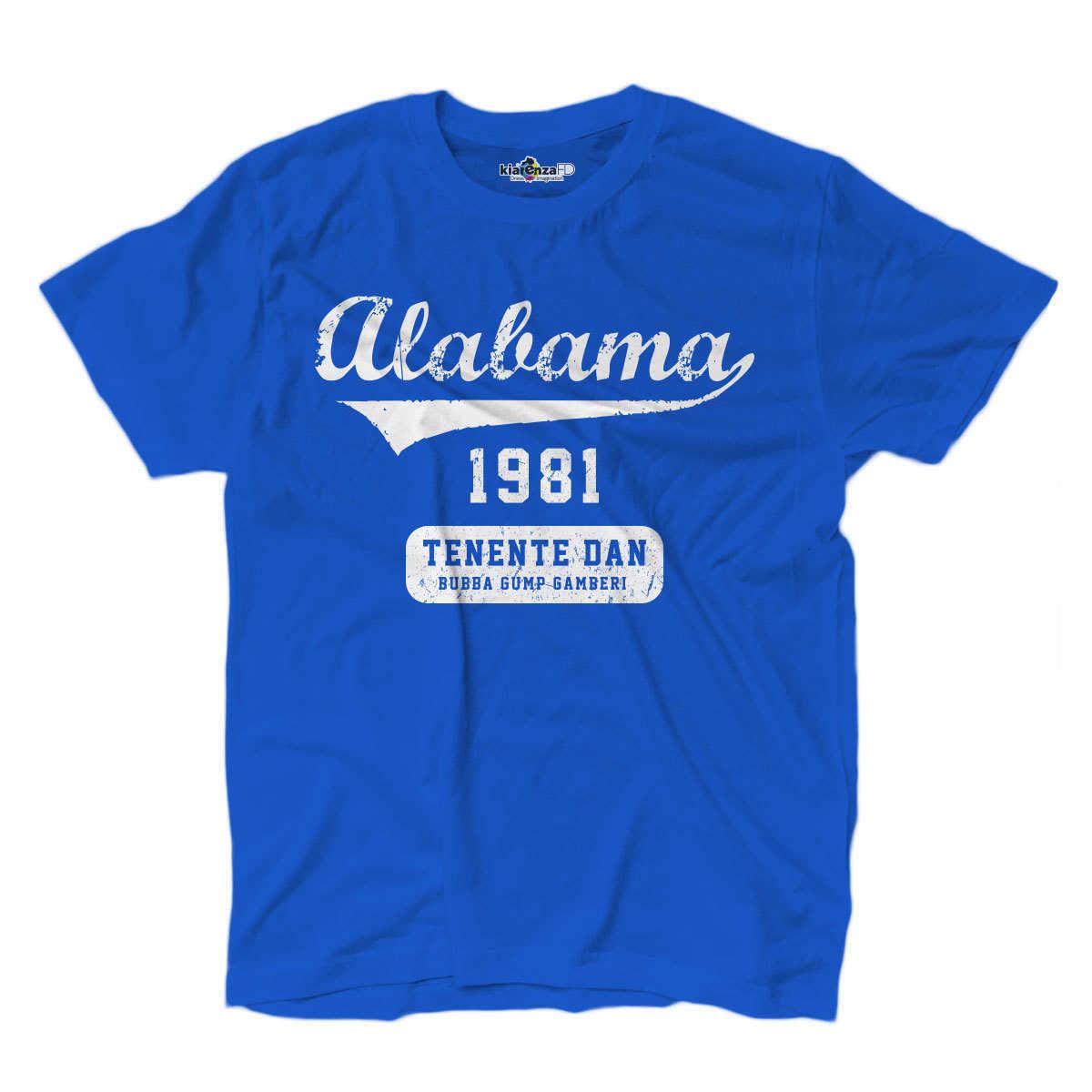Camiseta Forrest Gump el teniente Dan Alabama películas de culto 1 S