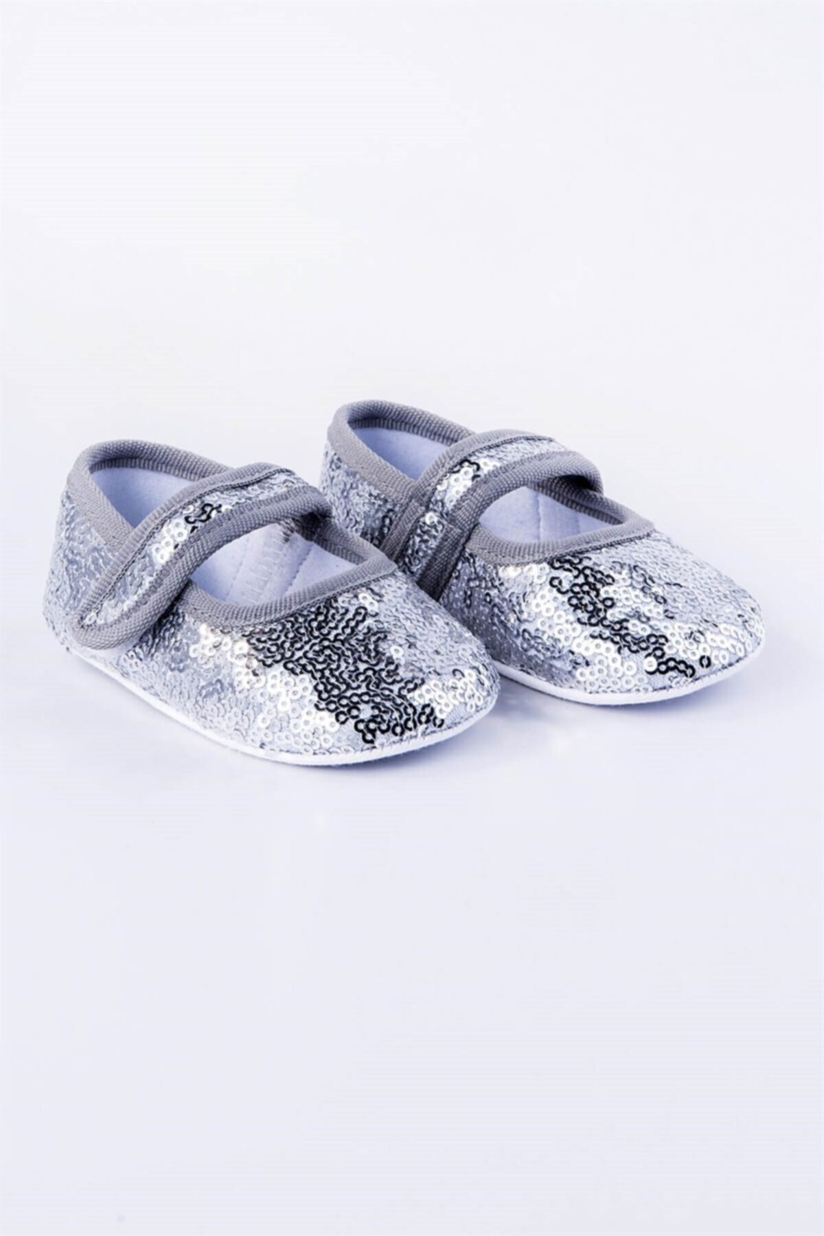 Flaneur Baby Girl Silver Sequined Booties Shoes 2021 Premium Quality