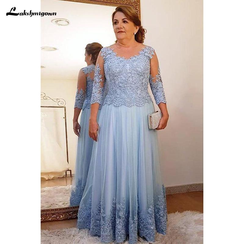 Vestido de encaje de tres cuartos para madre de la novia, ropa...