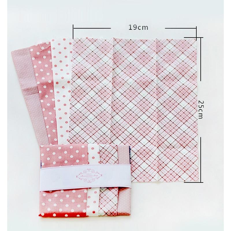 Dailylike Printed Cloth Sewing Quilting Fabrics Cotton Fabric Quilting Fabric Patchwork Needlework Cartoon fabric 19*25cm 4Pcs