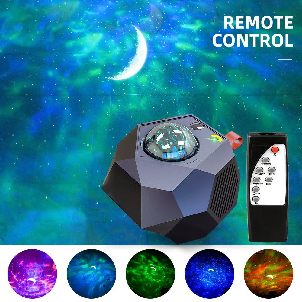القمر ستار كشاف ضوئي 360 درجة دوران رومانسية ليلة الإضاءة مصباح هدايا فريدة للأطفال عيد ميلاد غرفة نوم المزاج
