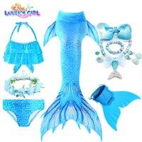 LovelyGirl Mermaid Tails with Monofin Mermaid Costume Children Cosplay Girl Little Mermaid Dress Girls Mermaid Birthday Party