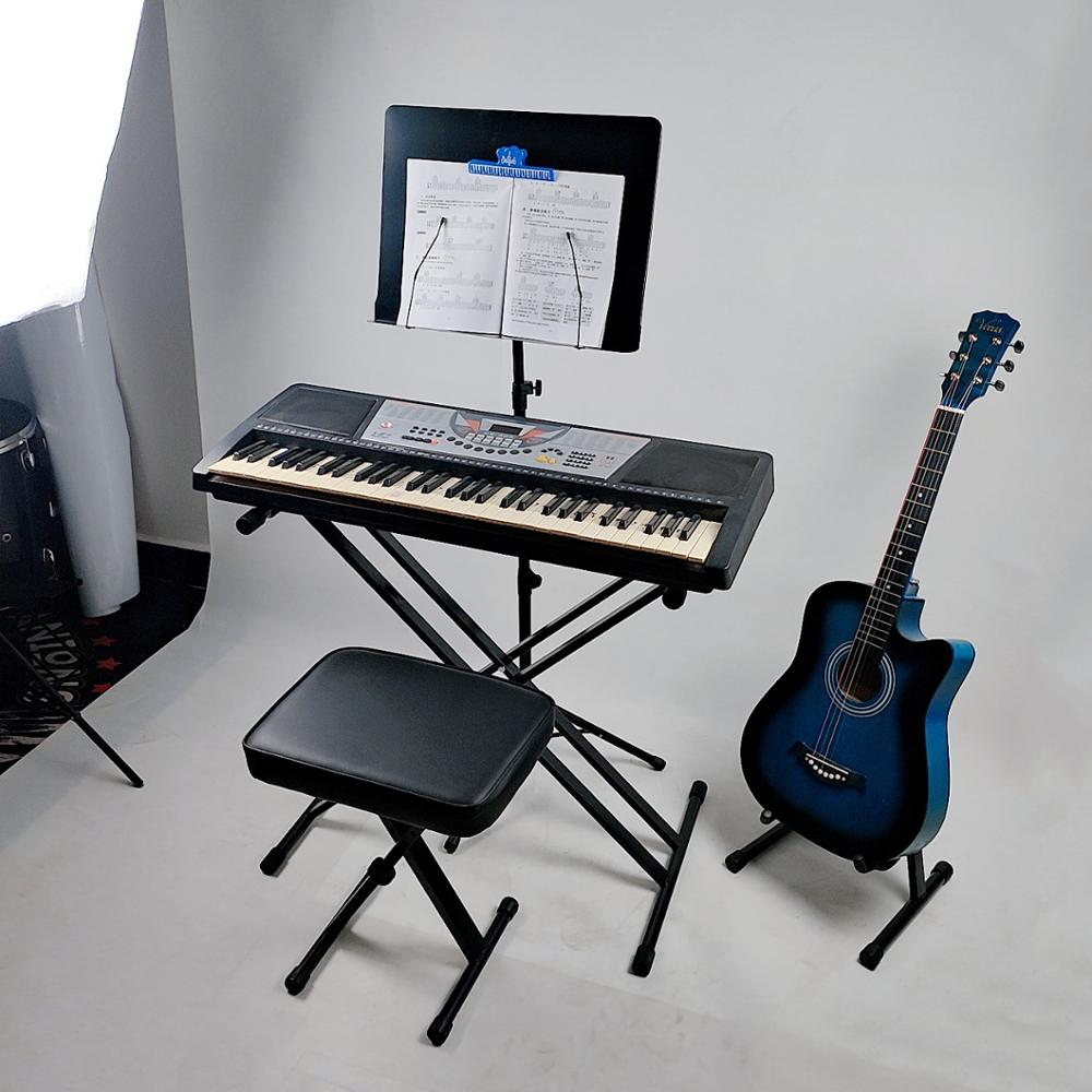 Student piano stool is simple and durable, four-speed adjustable folding lifting piano stool, electronic piano stool wholesale enlarge