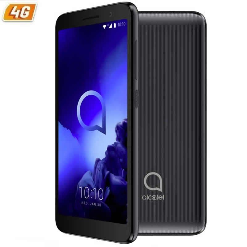 Alcatel Работает с любым оператором, 1 2019 черный-5 /12,7 см-qc mediatek mt6739 - 1 Гб оперативной памяти мобильного phone-8gb-cam 5/2mpx - android-4g-две sim-карты-