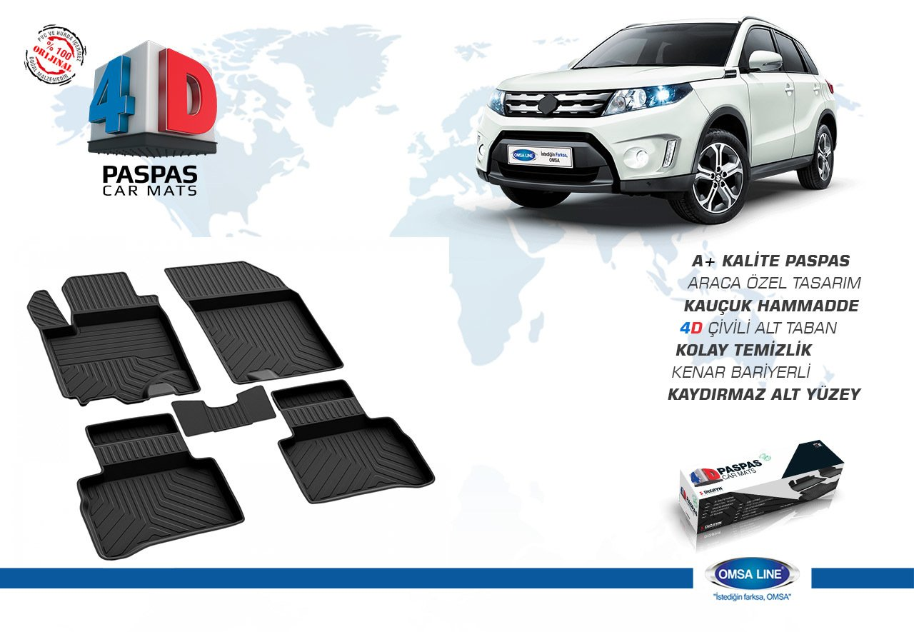 Noir mat 2015 Suzuki Vitara 4D et plus