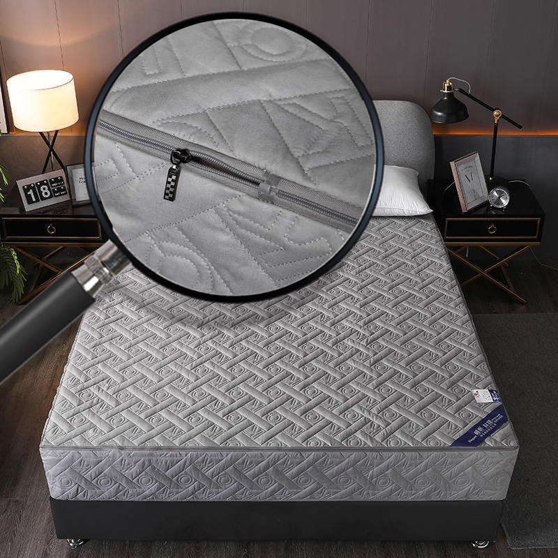 رشاقته غطاء السرير 6 الجانبين شامل غطاء مرتبة إغلاق سستة مفارش سرير مفرش مبطن وسادة حصيرة لغرفة النوم