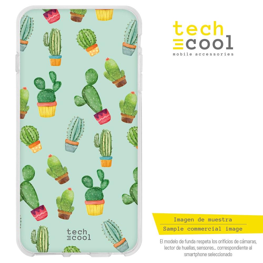 FunnyTech® Funda Realme 6 l Cactus patrones fondo verde