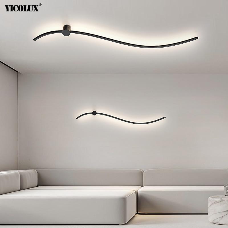 بسيطة الإبداعية جديد الحديثة وحدة إضاءة LED جداريّة مصابيح لغرفة المعيشة دراسة غرفة نوم صالون الدرج أضواء الحديد المنزل إضاءة داخلية الإنارة