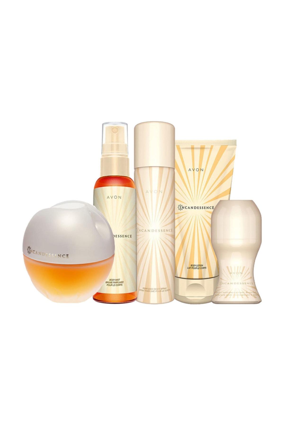 Avon Incandessence Edp 50 Ml Women 'S Perfume 5'Li Set Economic New Season Care For Women Sexy Passionate Modal 2021 недорого