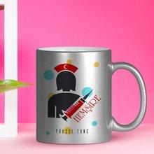Personalized Professional Nurse Silver Gilt Mug Cup-3