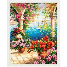 48-10 Набор для вышивания Чудесная игла Цветочный бриз15*20 см