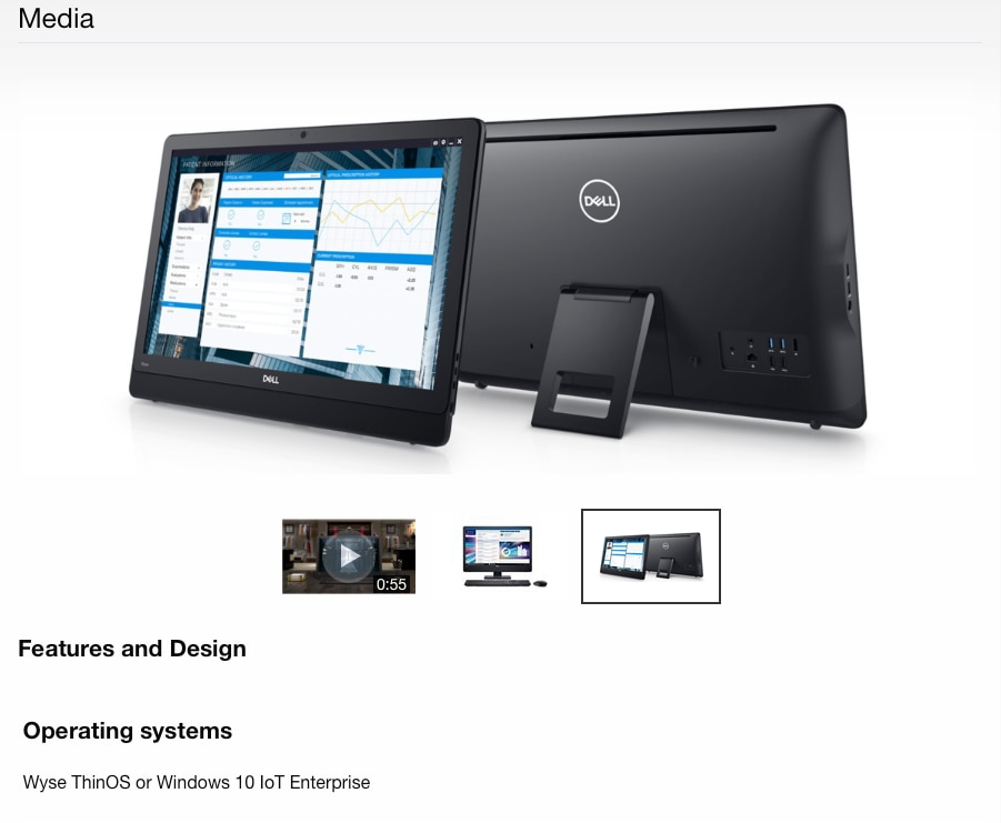 Dell Wyse 5470 All-in-One Laptop Desktop Computer 2GHz, 16GB SSD 2GB Memory Ship from London with FEDEX UPS