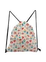 nurse printed drawstring bag practical unisex packs portable eco reusable storage bag travel fashion teenage boys girls bookbag