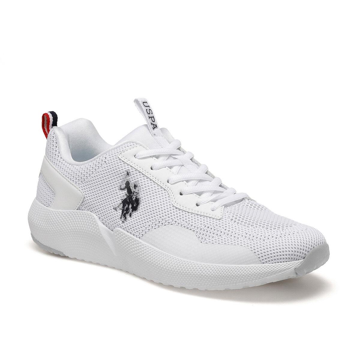 ¡FLO blanco zapatilla de deporte de los hombres zapatos casuales zapatos de hombre Trekking al aire libre zapatos de Montañismo de Estados Unidos POLO ASSN! SAM