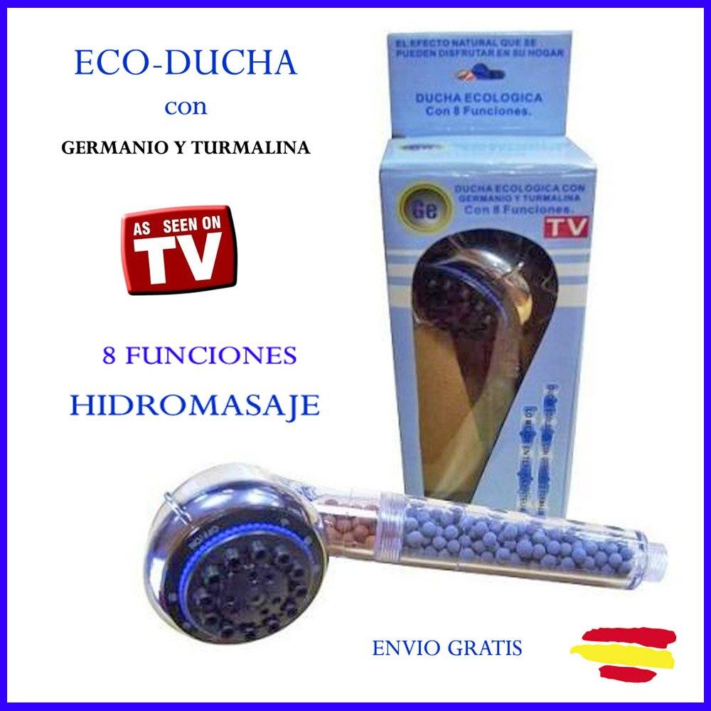 DUCHA GERMANIO Y TURMALINA HIDROMASAJE ECOLOGICA Ecoducha 8 funciones VISTO TV