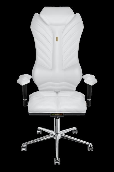 Cadeira de escritório kulik sistema monarca branco computador cadeira alívio e conforto para as costas 5 zonas controle coluna