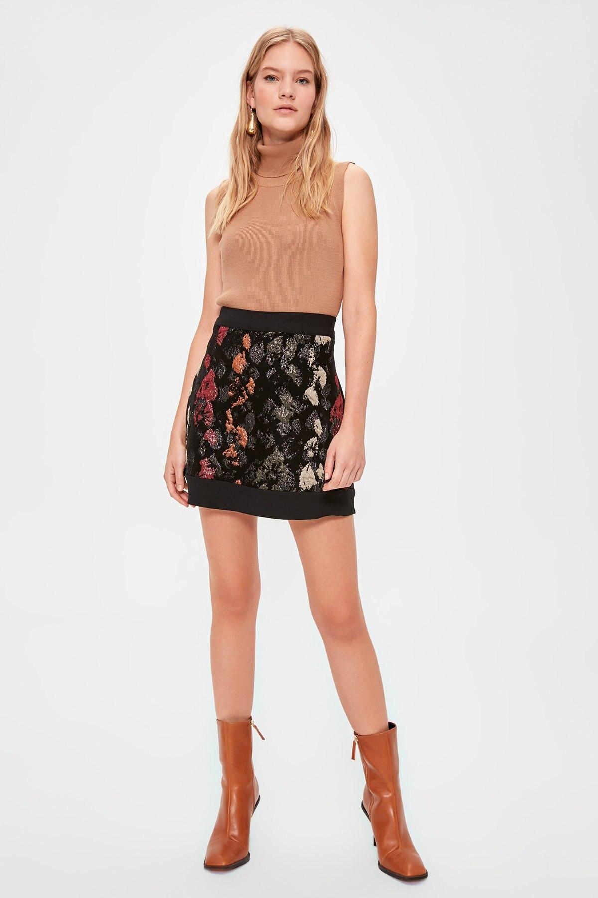 Trendyol Patterned Skirt TWOAW20ET0532