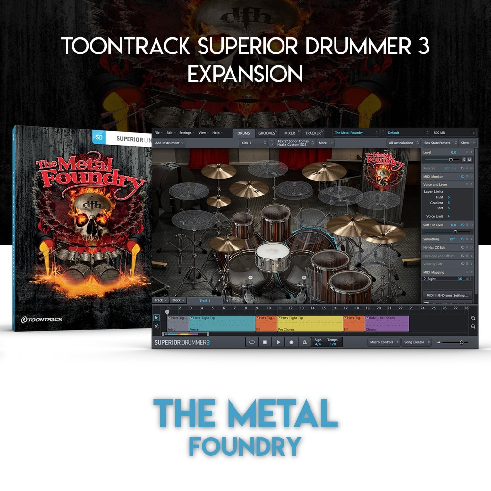THE METAL FOUNDRY - TOONTRACK SUPERIOR DRUMMER 3 EXPANSION (WINDOWS 64BIT VSTi)