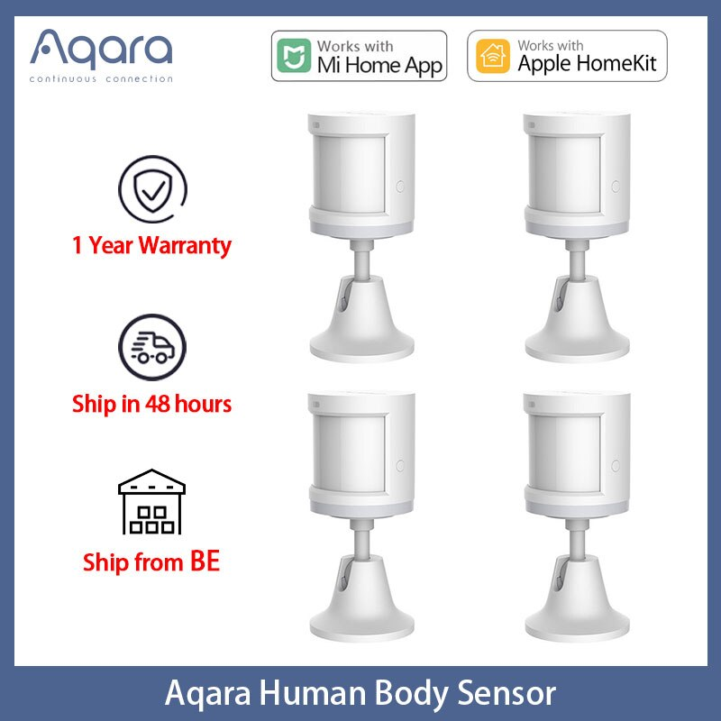 Aqara Zigbee Motion Sensors Smart Wireless Home Connection Human Body Sensor For Xiaomi Mi Home App sensor de movimiento EU RU