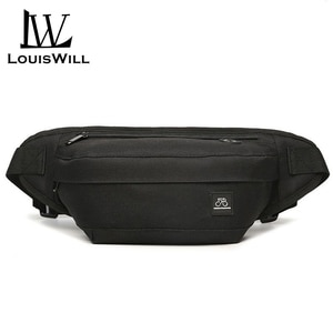 Louiswill saco da cintura dos homens bolsa de ombro náilon bolsa saco de viagem esportes grande capacidade ao ar livre correndo equitação fanny