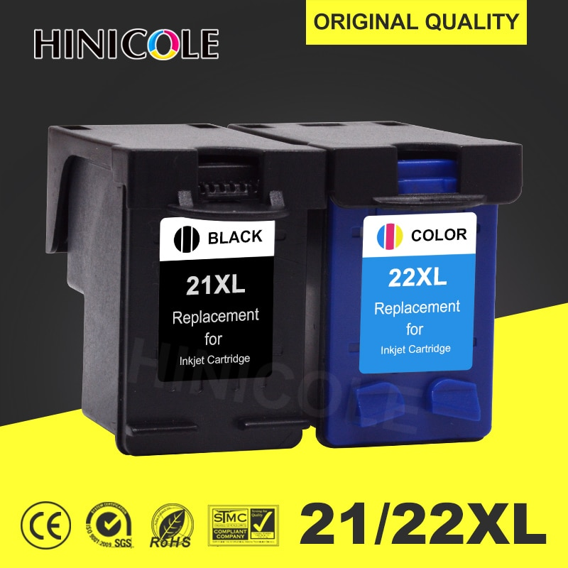 HINICOLE 21 22 Printer Cartridge for HP/hp21 for HP/hp 21 xl for ink cartridge Deskjet F2180 F2200 F2280 F4180 F300 F380 380