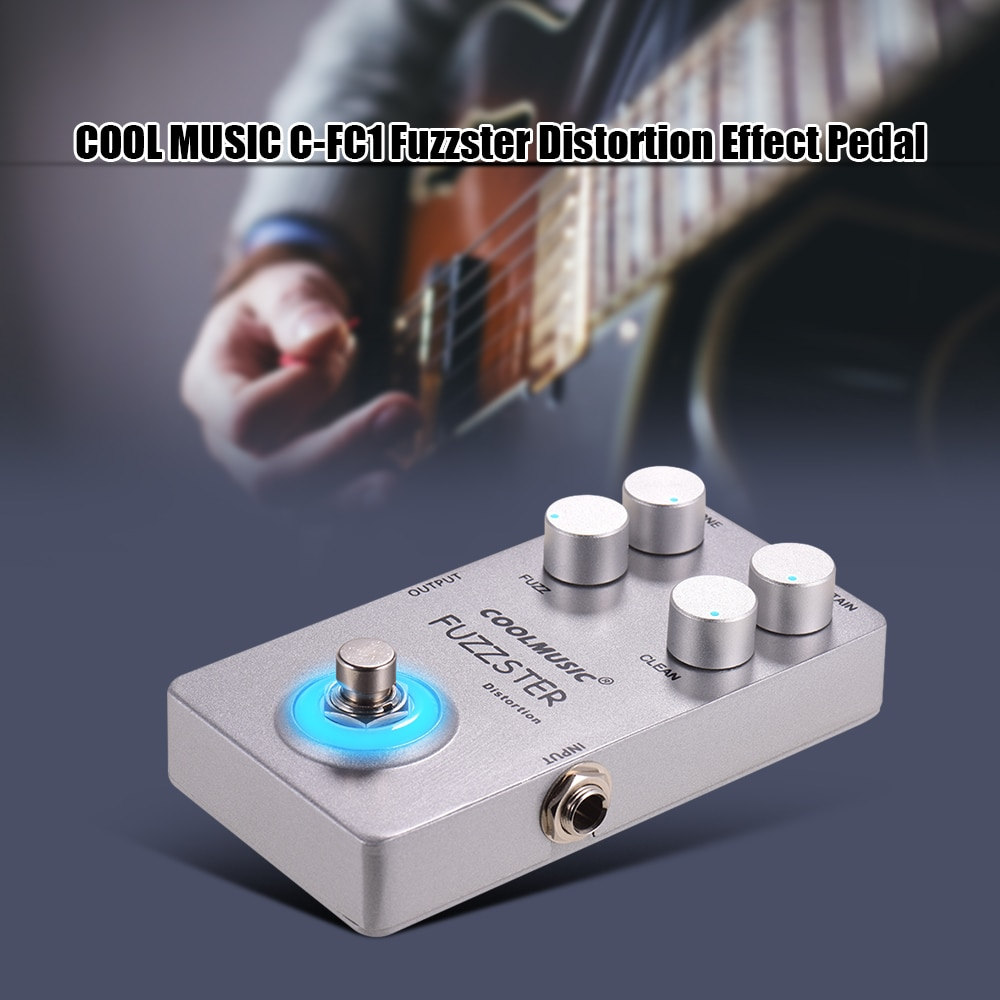 Coolmusic Fuzzster Distortion Guitar Effect Pedal Bass Fuzz Pedal for Electric Guitars