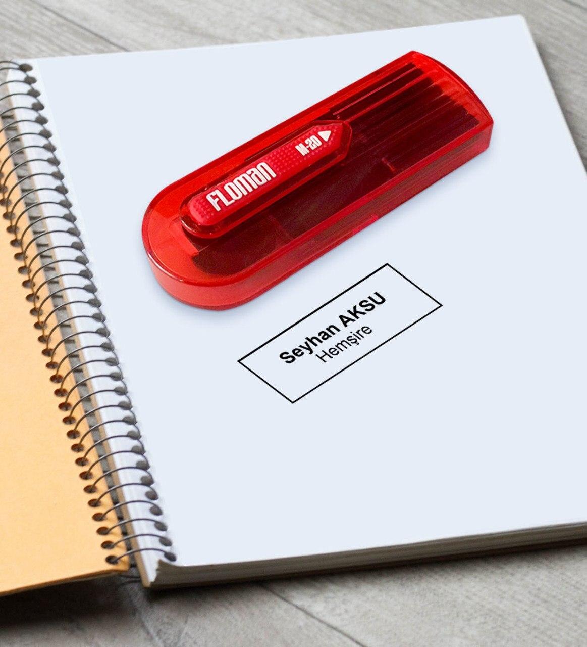 Sello de bolsillo rojo personalizado para enfermera